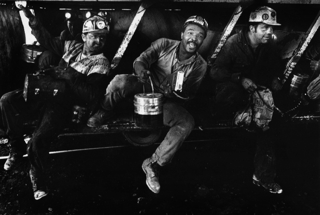 Miners heading home - Photo by Earl Dotter